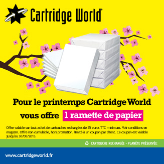 Offre printemps ramette papier Cartridge World Dax